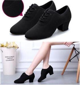 AU-Women-Two-point-Modern-Latin-Tango-Jazz-Dance-Ballet-Soft-Sole-Shoes-Dancing