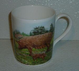 Hudson-Middleton-Taza-Tamworth-Pigs-Vtg-1990-Raro-Razas-8-9cm