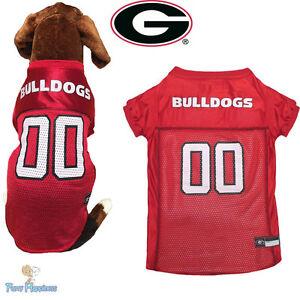 pretty nice 31503 847b4 Details about NCAA Pet Fan Gear GEORGIA BULLDOGS Dog Jersey Shirt for Dogs  BIG SIZE XS-2XL