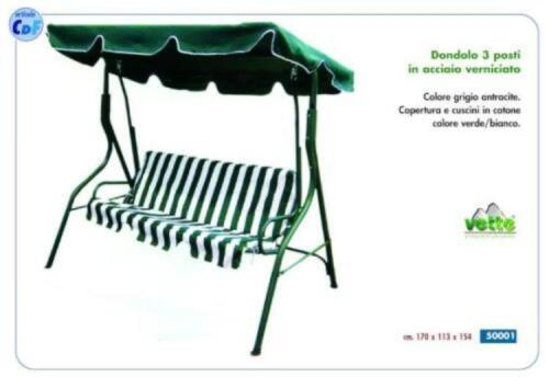 DONDOLO VERDE//BIANCO CM.170X113X154 CON CUSCINI