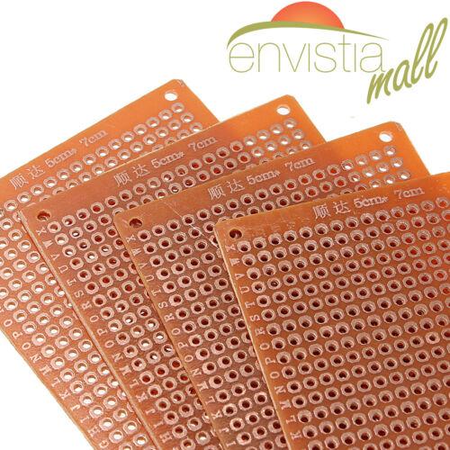 10 Pcs 5x7cm DIY PCB Prototyping Perf Circuit Boards Breadboards US