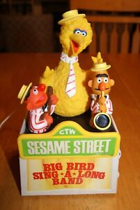 Vintage Big Bird Song-A-Long Band AM Transistor Radio - Needs Work
