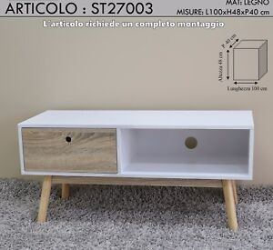 Meuble Tv Salon Salon Déjeuner 1 Tiroir Design Moderne En Bois
