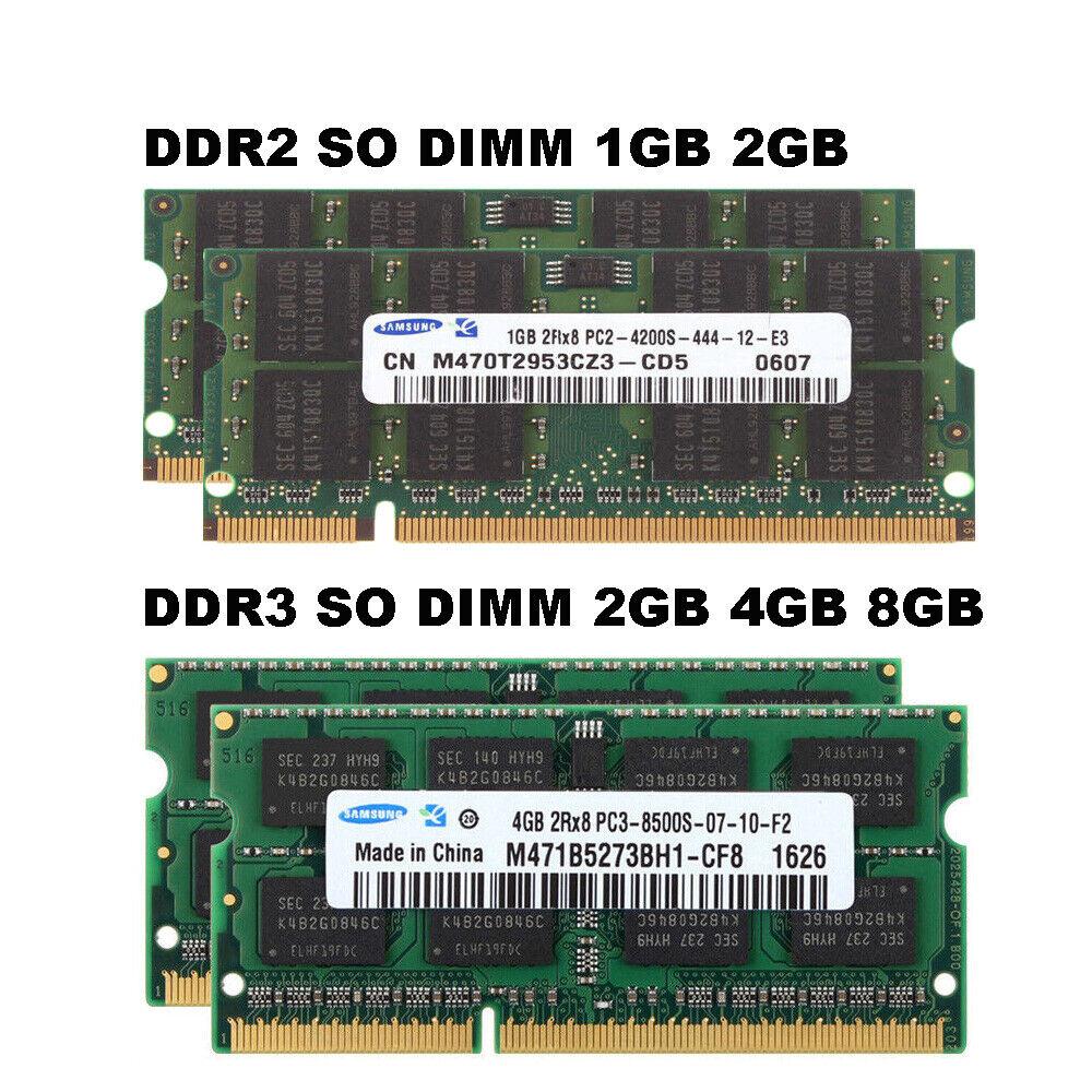 PC2-5300 DDR2 667MHz Non-ECC CL5 200pin M470T2953EZ3-CE6 Samsung 2GB 2x1Gb