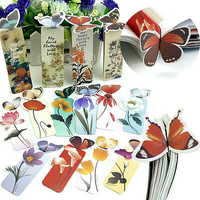 10 x Creative Butterfly Bookmark Cartoon Book Mark Paper Clip Office School Gift