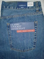 Croft & Barrow Classic Fit Straight Leg Mens Blue Denim Jeans Size 34 | 44 |
