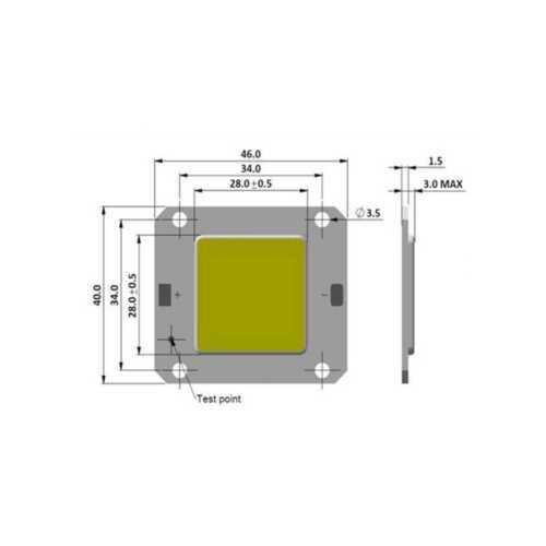 Wholesale 10pcs 32V 50W High Power LED Lamp Light COB SMD Chip Cool White 20000K