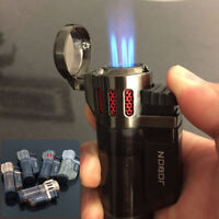 Jobon High Capacity Triple Jet Torch Gas Lighter Pipe Cigar Cigarette Handy Tool