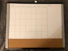 Quartet Magnetic Cork Amp Dry Erase Calendar Whiteboard Espresso Frame
