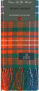 MacDonald Clan Ancient Tartan Lambswool Scarf /& Tie Gift Set