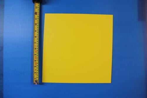 "YELLOW STYRENE POLYSTYRENE PLASTIC SHEET .015/"" X 12/"" X 24/""  LIGHT DIFFUSING"