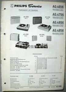 Philips-AG-4656-4756-4856-4956-Plattenspieler-Service-Manual-Ausgabe-7-63