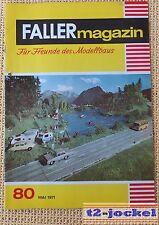 Faller  AMS --  Faller Magazin Nr. 80 von 1971 !