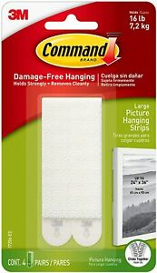 Command Picture and Frame Hanging Strips Heavy Duty