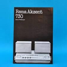 Rema Akzent 730 Mittelsuper DDR 1973 | Prospekt Werbung DEWAG Werbeblatt E