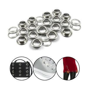 L-039-occhiello-100pcs-Argento-Occhielli-Con-Rondelle-Di-Abbigliamento-Fai-da-Te-Sacchetti-Borse