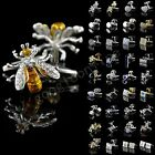 Lot Vintage Stainless Steel Golden Silver Wedding Gift Mens Antique Cuff Links