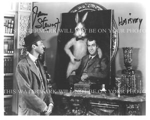JAMES STEWART SIGNED AUTOGRAPHED 8x10 RP PROMO PHOTO WITH HARVEY