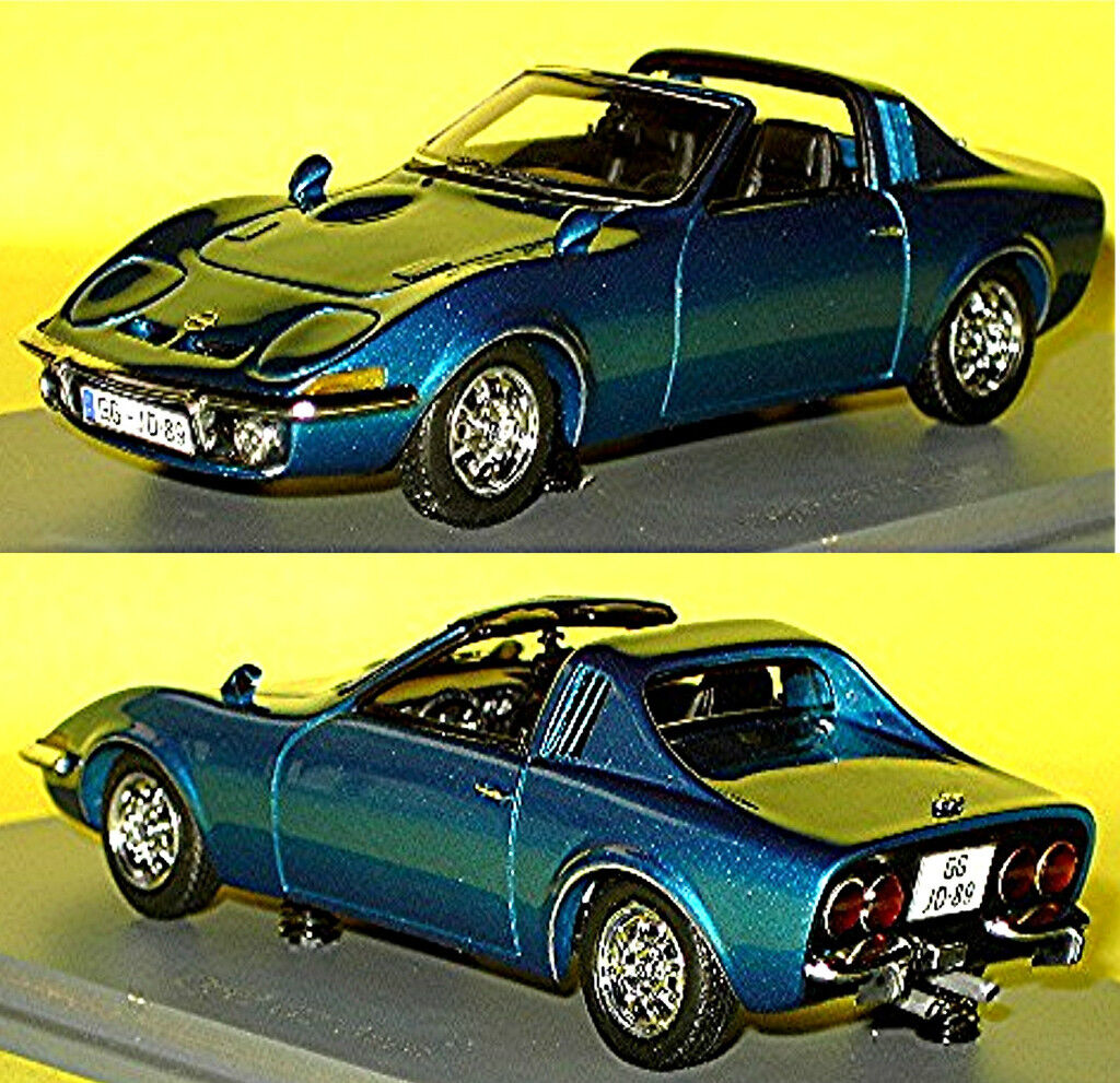 Opel Gt Aero 1969 blu blu Metalizado 1 43 Neo Scale Models