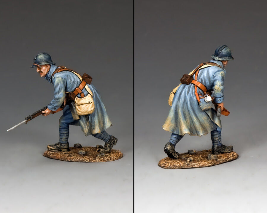 KING AND COUNTRY WW1 French Poilu Charging with Bayonet FW148