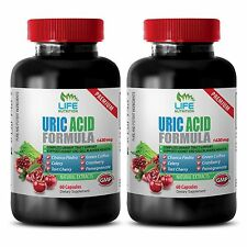 Gout Relief Supplement - Uric Acid Formula 1430mg - Tart Cherry Capsules 2B
