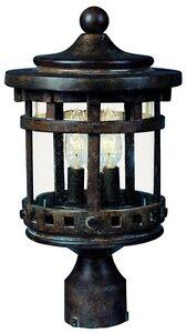 Image Is Loading 3 Light Outdoor Post Mount Lighting Fixture Pole