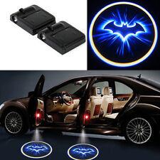 2x Batman Door Welcome Projector Logo Wireless Blue LED Ghost Shadow light Car f