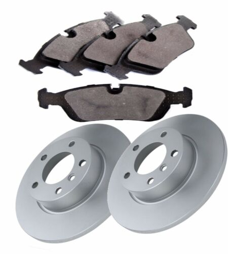 BMW 3 SERIES E36 FRONT BRAKE DISCS AND BRAKE PADS SOLID