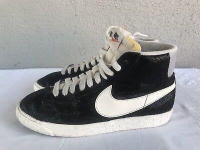 newest 21222 9f57a Nike Women s Blazer MID Shoes Size US 8 518171-009 Suede Vintage Black Sail