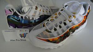 940e66c2e New Mens Sz 4 Nike Air Max 95 ERDL Party White Multi-Color Camo ...