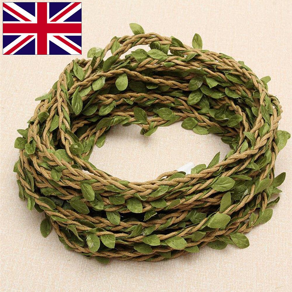 Artificiel Lierre Vigne Rotin String Vine Ivy Leaf Garland Vines Rattan 10M 2
