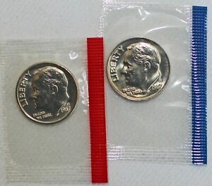 1995-P+D ONE NEW UNCIRCULATED MINT SET FROM MINT SHIPPING BOX TEN SEALED COINS