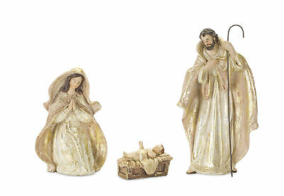 Set of 3 Holy Family 10 inch Resin Stone Christmas Nativity Figurines
