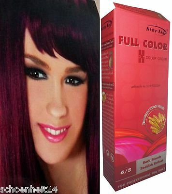 Hair COLOR Permanent Hair Dye Goth Emo SI ACT Dual Care DARK RED VIOLET PURPLE