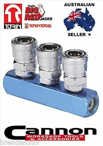 NITTO-STYLE-3-WAY-AIR-FITTING-SOCKET-COMPRESSOR-AIR-LINE-COUPLER-MANIFOLD