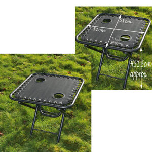TEXTOLINE-GARDEN-OUTDOOR-PORTABLE-FOLDING-TABLE-TWO-BUILT-IN-CUP-DRINK-HOLDERS