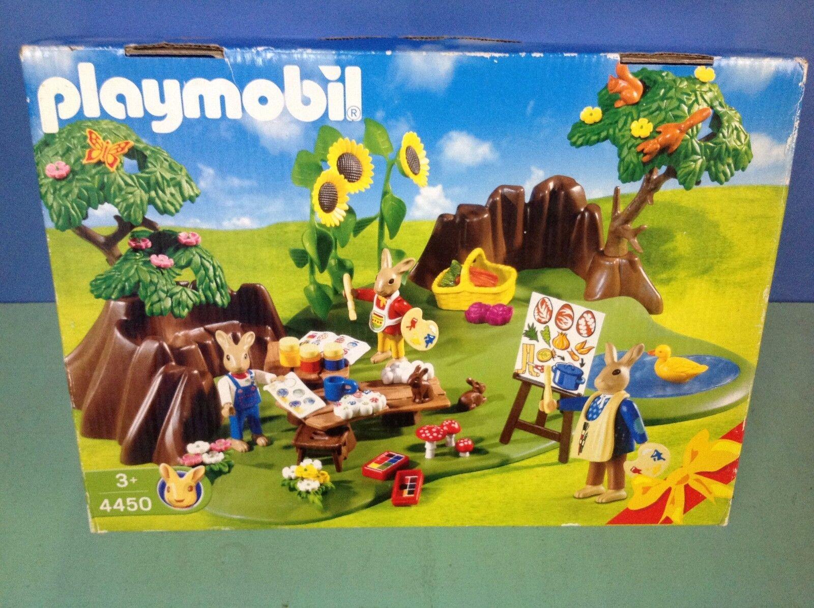 (O4450.1) playmobil set spécial Pâques lapins boite ref 4450 4455