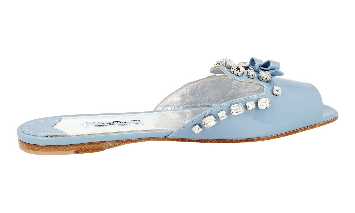 AUTH AUTH AUTH LUXURY PRADA SANDALS SHOES 1XX182 LIGHT blueE NEW 39,5 40 UK 6.5 0e906e