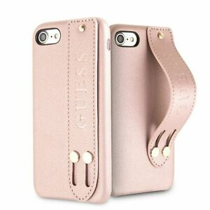 Guess-Saffiano-Strap-iPhone-7-iPhone-8-SCHUTZHULLE-Back-Case-Cover-Rosa