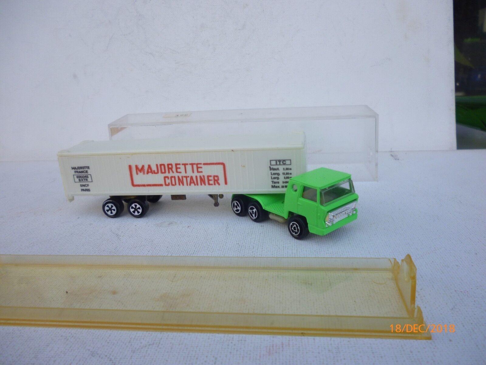 MAJORETTE CAMION CAMION CAMION BERNARD CONTAINER MAJORETTE Ref 361 NEAR MINT IN BOX 3cb32a