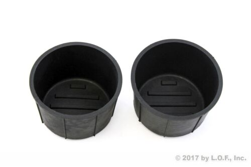 Fits Ford F150 09-2014 Rear Center Console Cup Holders Rubber Insert Liner
