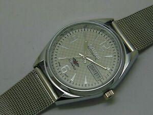 Citizen-Automatic-Men-039-s-Steel-Movement-8200-21Jewels-Day-Date-Vintage-Watch