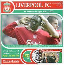 Liverpool 2002-03 Fulham (Emile Heskey) Football Stamp Victory Card #227