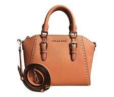 Michael Kors Saffiano Leather Ciara Grommet MD Messenger Bag Satchel Acorn Brown