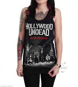89b08803df8 Details about Hollywood Undead Unisex Day of the Dead Black Tank Top T-shirt