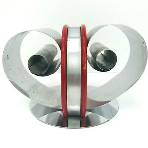 Vintage Double Bobine SERRE-LIVRES ART DECO Revere Fred Farr Design Chrome Porte-Livre