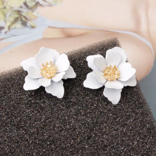 Charm Flower Ear Stud Personality Temperament Earrings Women Charm Jewelry Gift