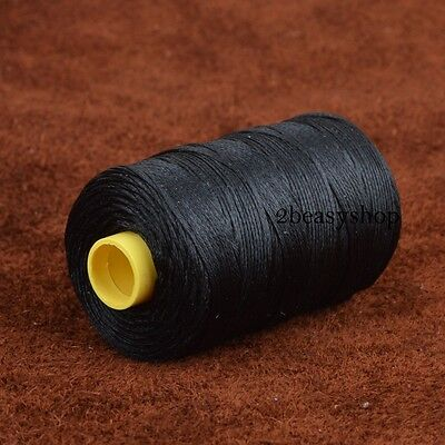 Black 109yrd x1mm Leather Sewing Waxed Thread Upholstery Leather Craft Repair AU