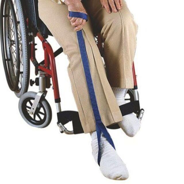 "Maddak/Ableware BLUE Nylon Leg Lifter Loop Post-op Foot lift 35"" Long F704170000"
