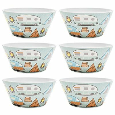 Zak Designs 6741-0321-ISET Adventurer 6-inch Plastic Soup Bowl Tents /& 27 oz.